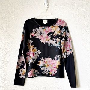 Maeve floral knit sweater